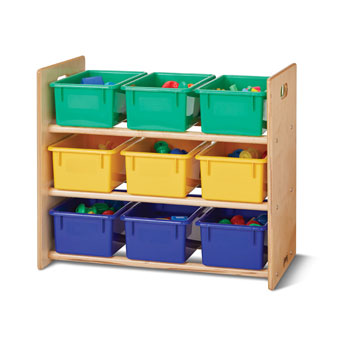 0710jc-9-tray-tote-storage-rack-with-colored-trays