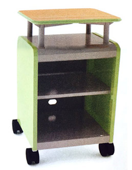 30013-cascade-series-twoshelf-mobile-presentation-cart-wout-doors-21-w-x-19-d