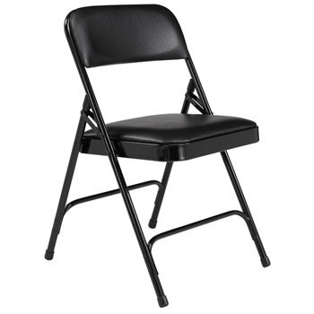 1210-black-vinyl-black-frame-18-gauge-steel-padded-folding-chair-with-double-hinge