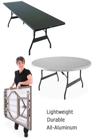 All Aluminum Alulite Folding Table By Southern Aluminum