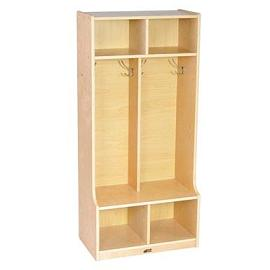 elr-17231-birch-2-section-coat-locker-w-bench