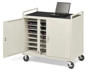 Bretford Fully Assembled School Charging Laptop Storage Carts