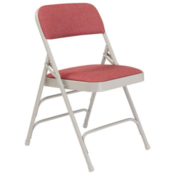 2308-cabernet-fabric-gray-frame-18-gauge-steel-padded-folding-chair-wdouble-hinge-triple-braces