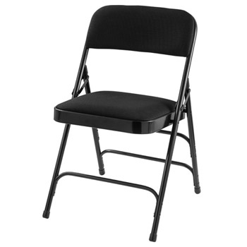 2310-padded-folding-chair-w-double-hinge-and-triple-braces-black-fabric-w-black-frame
