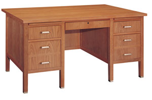 st3460dd-34d-x-60w-oak-double-pedestal-wooden-desk