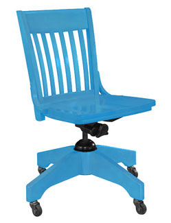 Wooden Office Chair with Sherwin-Williams Resonant Blue Paint
