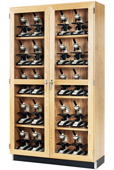3723616-diversified-woodcrafts-16-d-microscope-storage-cabinet-with-clear-glass-doors