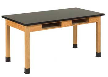 c7176k30n-solid-epoxy-resin-top-hardwood-science-lab-table-with-compartments-36-d-x-48-w
