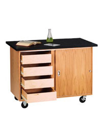 4222kfrs-mobile-demo-table-with-drawers-w-flat-top-rod-sockets