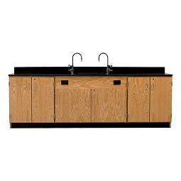 3214k-wall-service-bench-w-storage-cabinets-phenolic-resin-top