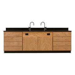 3244k-wall-service-bench-w-storage-cabinets-eight-large-drawers-phenolic-resin-top