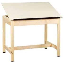 dt-32a-drawing-table-w-1-piece-top-w-board-storage