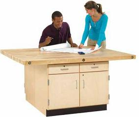four-station-workbench-with-drawers