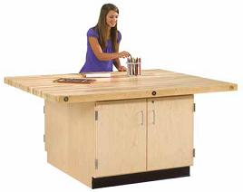 four-station-workbench-with-cabinet