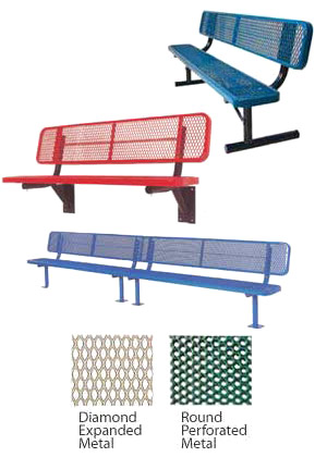 Outdoor Benches With Backs By Ultraplay