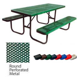 158p6-6-rectangular-expanded-metal-outdoor-picnic-table