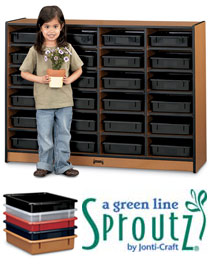 0625jc-sproutz-24-paper-tray-mobile-cubbie-with-colored-trays