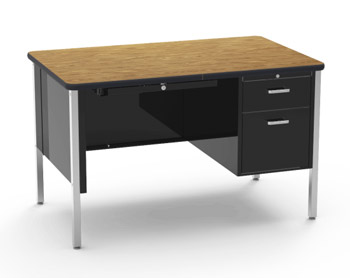 543-30x48-medium-oak-top-char-black-frame-single-pedestal-desk
