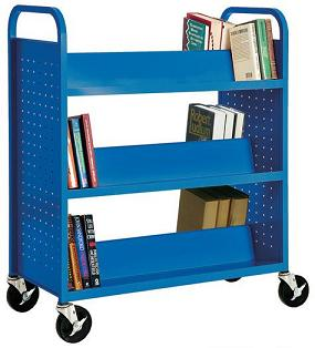 sv336-doublesided-slopedshelf-book-truck