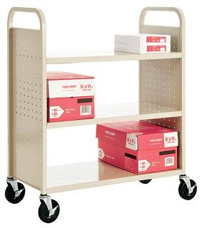 sf336-book-truck-with-3-flat-shelves