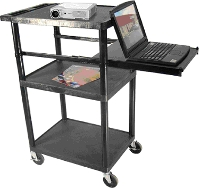 pslp46-luxor-3-shelf-presentation-workstation-wlarge-pull-out-keyboard-tray