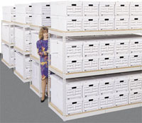 73004p-69wx16dx84h-record-storage-rack-w4-particle-board-shelves-40-box-capacity-putty