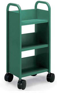 21096-3-sloping-shelves-mini-book-truck
