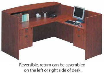 Ndi Office Furniture Bow Front Desk Workstation With