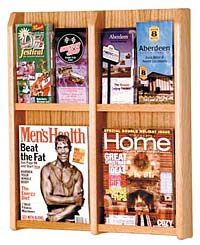 lm4-4-magazine-or-8-brochure-oak-and-acrylic-wall-rack