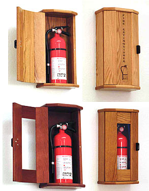All Fire Extinguisher Oak Cabinet By Wooden Mallet Options