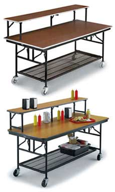 Midwest Mobile Folding Buffet Table