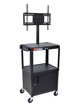 avj42c-lcd-adjustable-height-flat-panel-cart-w-cabinet