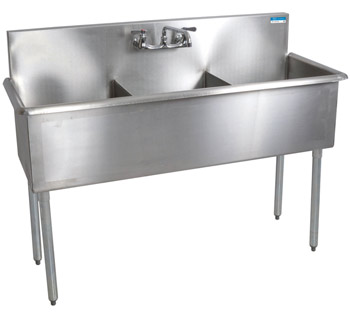 Shain 250483 Budget Stainless Steel 3 Compartment Sink