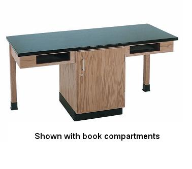 c2106k-twostudent-science-table-w-2-book-compartments-epoxy-resin-top-door-only