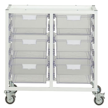 antimicrobial-swift-cart-6-double-depth-trays-clear