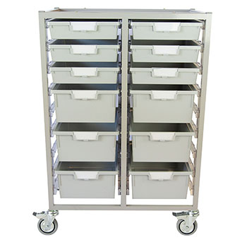 antimicrobial-swift-tower-cart-6-single-depth-6-double-depth-trays-light-gray