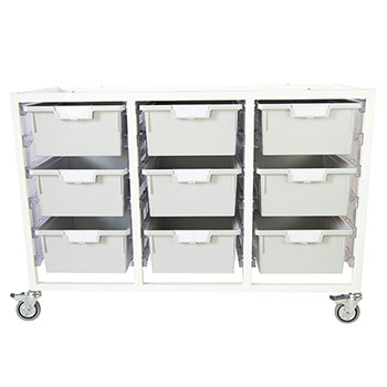 antimicrobial-class-act-cart-9-double-depth-trays-light-gray