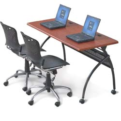 90210-package-deal--chi-flipper-seminar-table---training-chairs-72-x-24--light-cherry