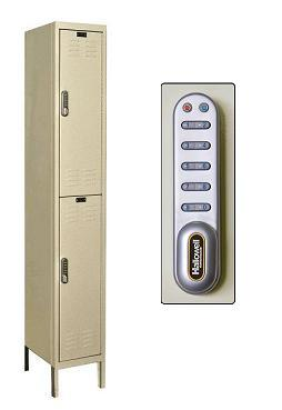 uel1288-2-digitech-double-tier-1-wide-lockers-w-electronic-lock-unassembled-12-w-x-18-d-x-36-h