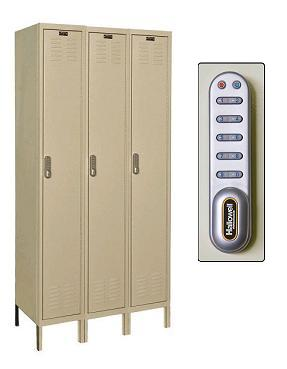 digitech-single-tier-3-wide-lockers-w-electronic-lock-by-hallowell
