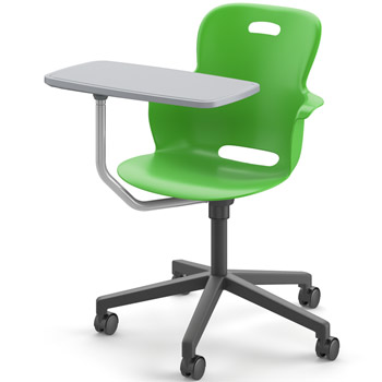 Ethos Series Mobile Task Chair With Tablet By Haskell
