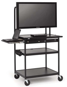 fp60mul-e5bk-flat-panel-cart-w-pull-out-shelf-electrical-strip-52-monitor
