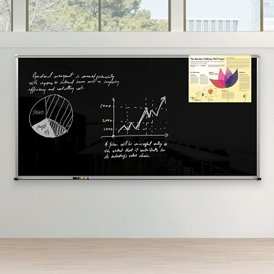 14804-framed-magnetic-glass-dry-erase-whiteboard-4-x-6-gloss-black