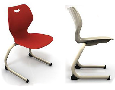 All Intellect Wave Cantilever School Chair By Ki Options Chairs