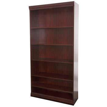 jef84exc-jefferson-excalibur-heavy-duty-genuine-wood-veneer-bookcase-w6-shelves-84-h