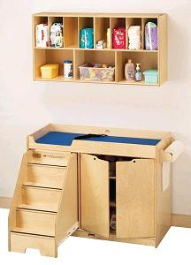 5135jc-birch-diaper-changer-w-stairs-and-wall-mount-organizer