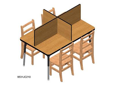 9531jc-table-top-study-carrel-fits-30-x-48-table