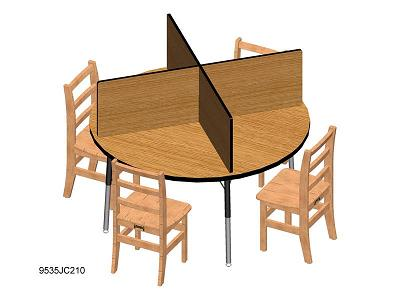 9532jc-table-top-study-carrel-fits-48-x-48-table