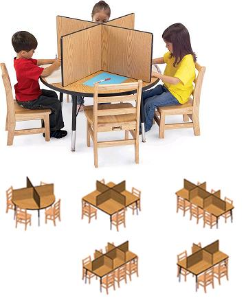 9535jc-table-top-study-carrel-fits-36-x-36-table