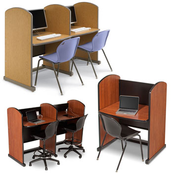 Library Study Carrels By Smith System Computer Study